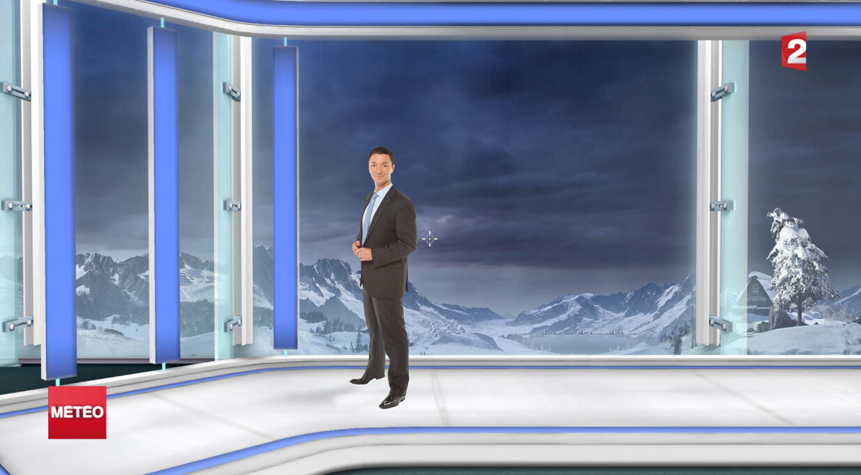 Virtual Set : Snow Weather show