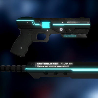 Tunnel vision sci fi weapons pack 3d model obj 3ds fbx c4d ma unitypackage