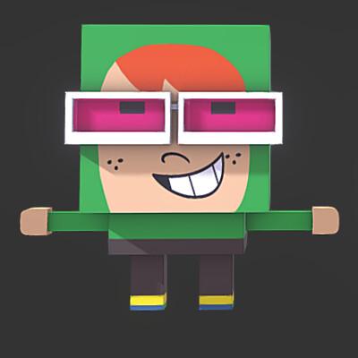 Spuke 3d block characters