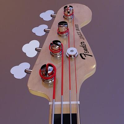 Paul kardos jazz bass final hdri hex shot