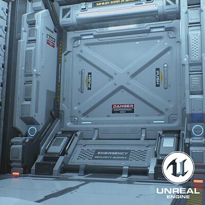 UE4 - Sci-fi Corridor [MARKETPLACE]