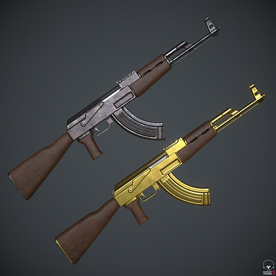 AK-47 - Game Ready Assault Rifle Weapon