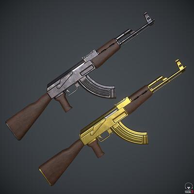 AK-47 - Game Ready Assault Rifle Weapon
