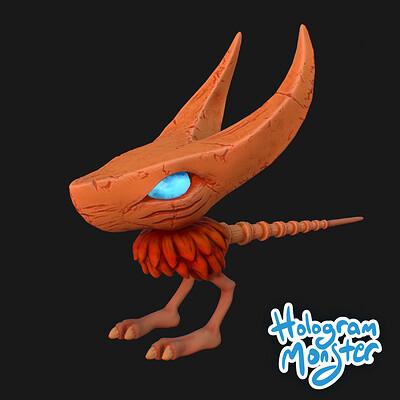 Hologram monster studio swarmer icon
