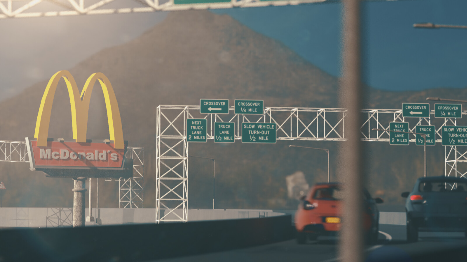 Car racing animation - Cinema4D & Redshift