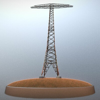 Dennis haupt transmission tower 32 meter rusty version modeled and textured by 3dhaupt in blender 2 82 14
