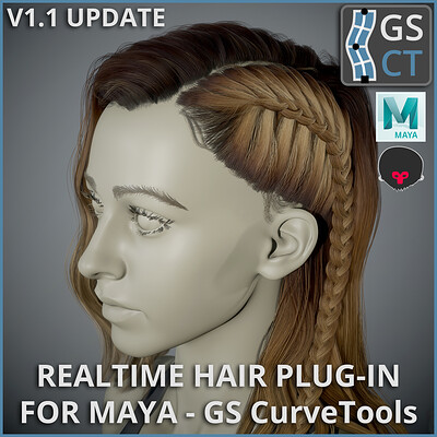 GS CurveTools v1.1 Update - Realtime Hair Plug-in for Maya - Demo