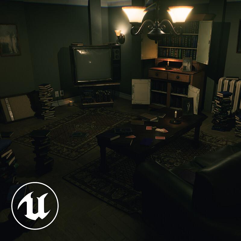 Horror Living Room - UE4