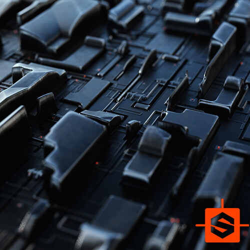Kreeble - Sci-Fi Procedural Greeble