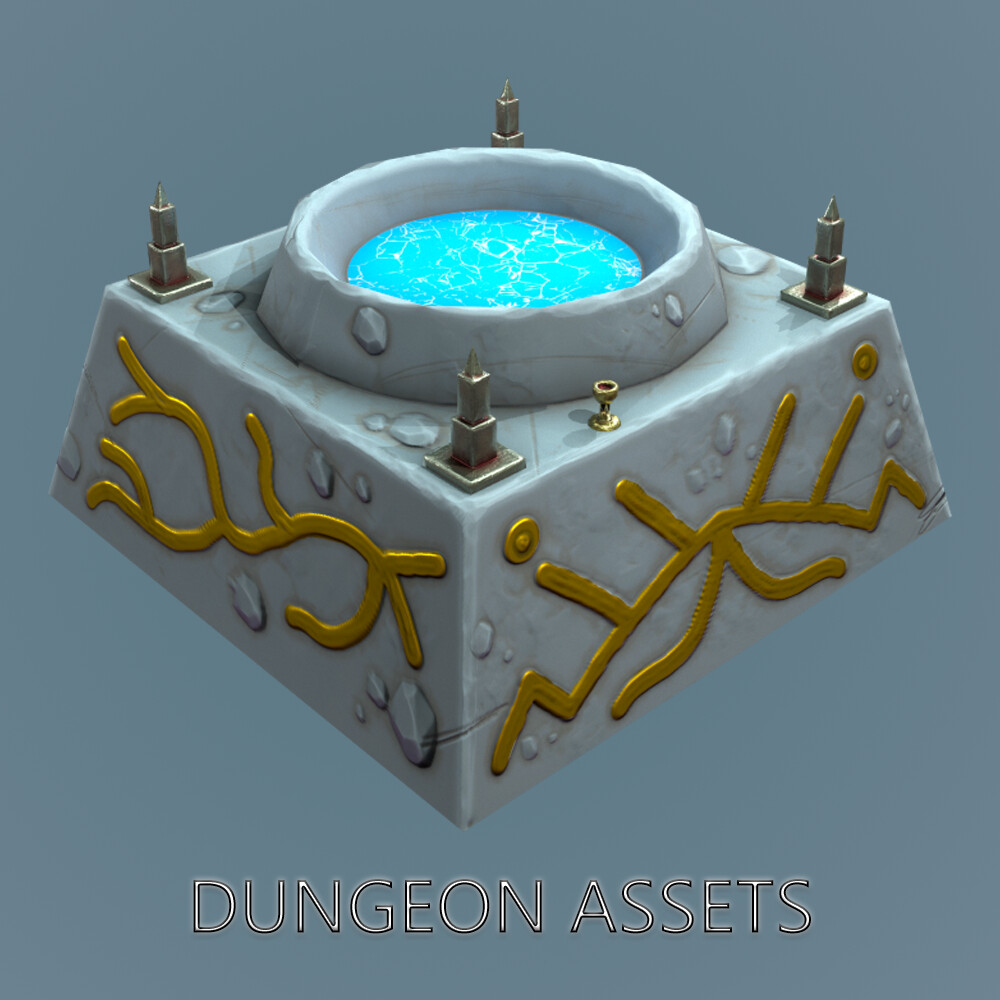 Dungeon Stylized Assets Mobile