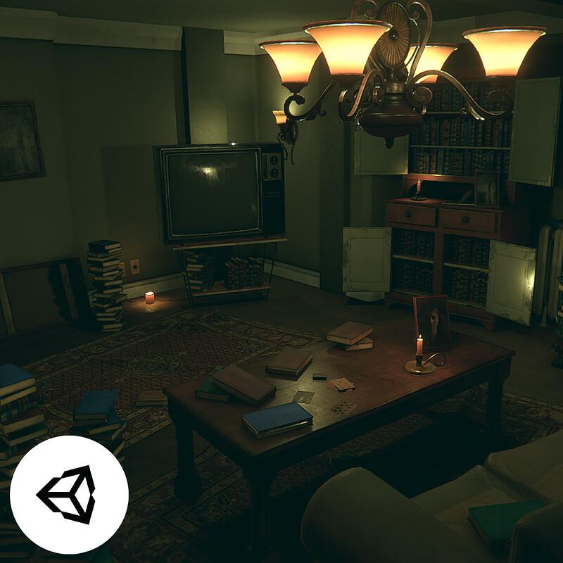 Horror Living Room - Unity