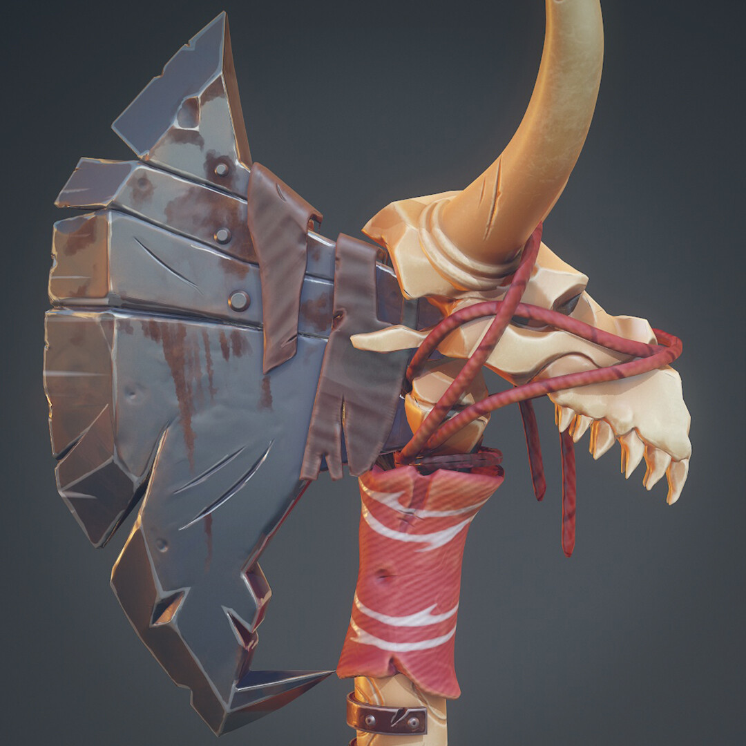 Chieftain's Axe - Stylized Art Mentorship Project