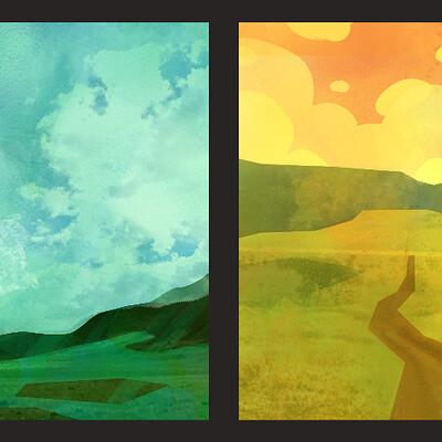 Sally jones practice landscapes 1