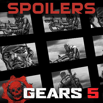 [SPOILER] Gears of War 5 Cinematic Storyboards - A tough decision
