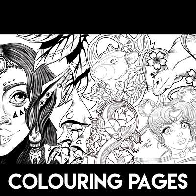 Digi nana colouring pages cover 2