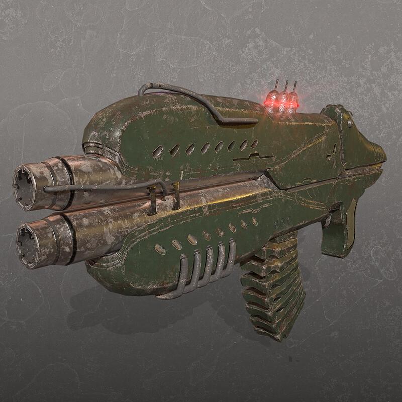 Monster Rifle - Game model -at Lethal Art Studio