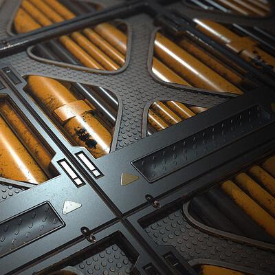 Scifi Grate Flooring