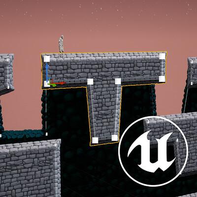 2D Spline Terrain for UE4