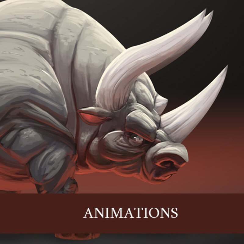 Rhinotaur animations