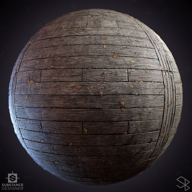 Wooden Bridge - Substance Designer