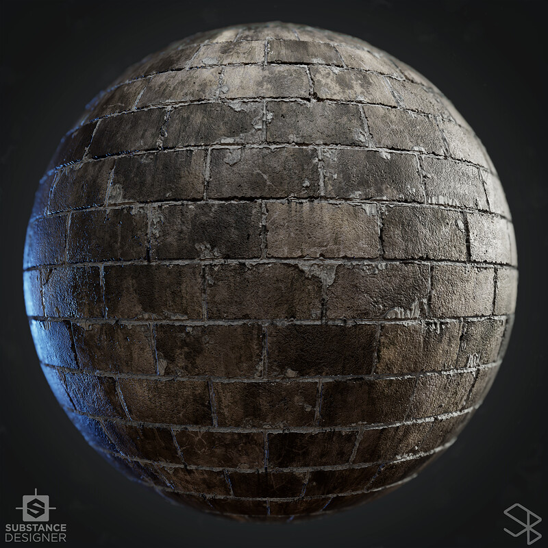 Concrete Block Wall - Substance Designer