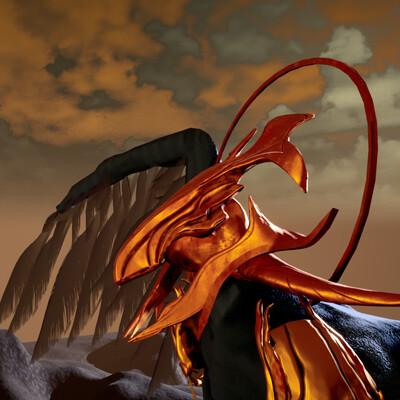 Azel, the Warden of Vigil - Creature and Rigging Study