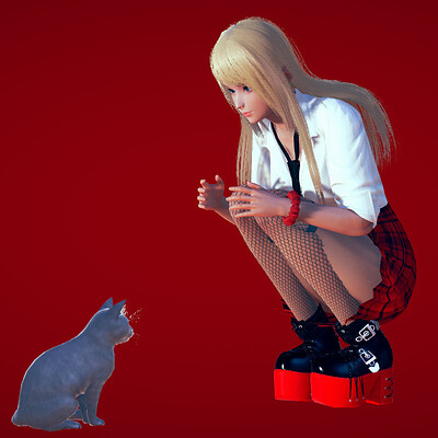 Spezinel   with cat