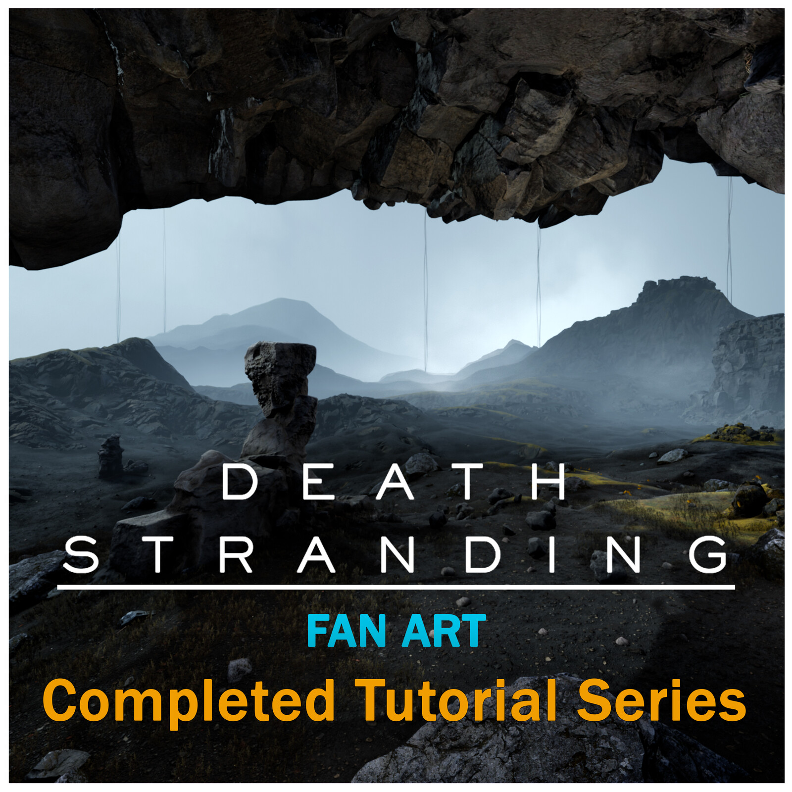 Procedural Death Stranding Fan Art Landscape Tutorial Completed Series with Houdini and UE4
