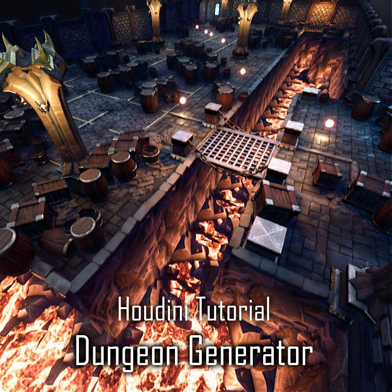 Dungeon Generator with Houdini