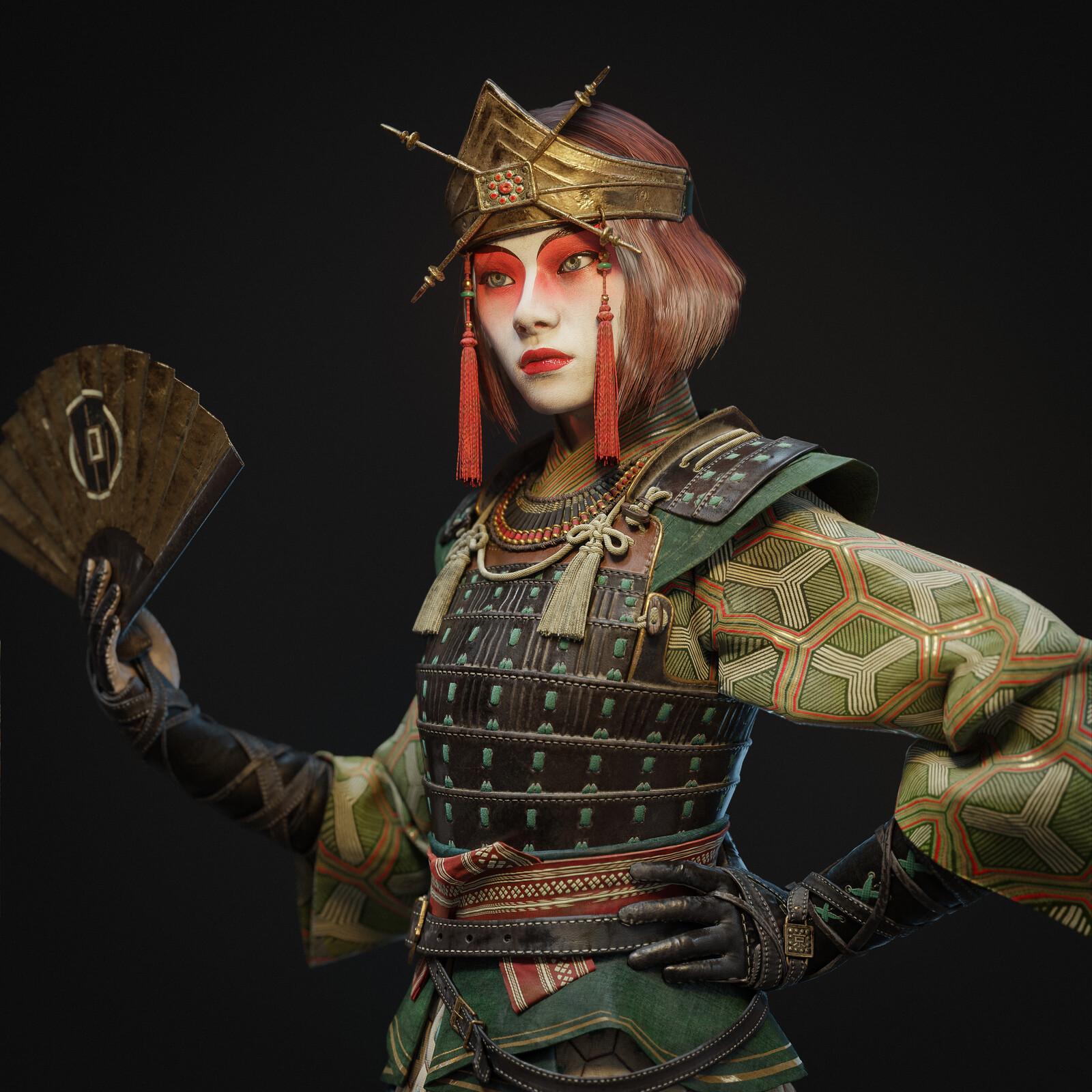 Kyoshi warrior Suki (ATLA fanart)
