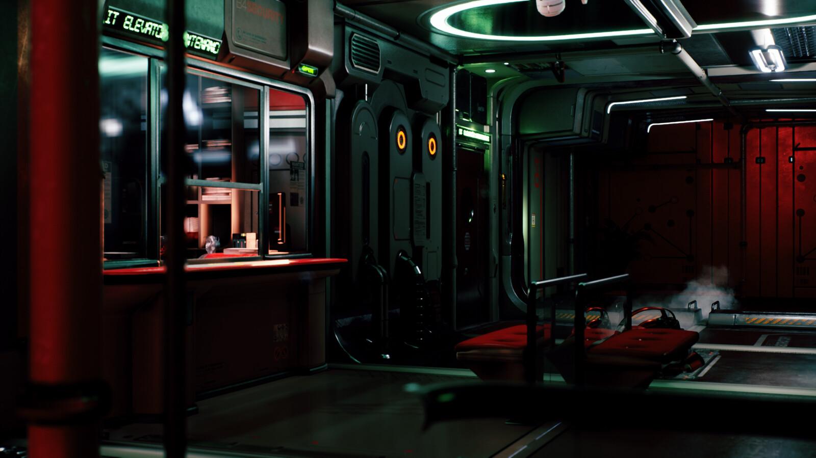 SciFi Corridor: Lighting Studies