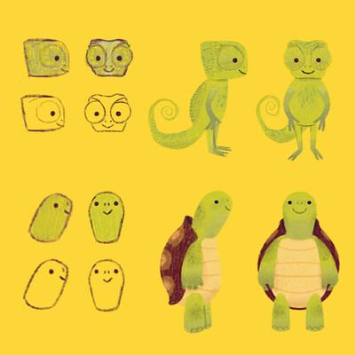 Aline dutra chameleon turtle