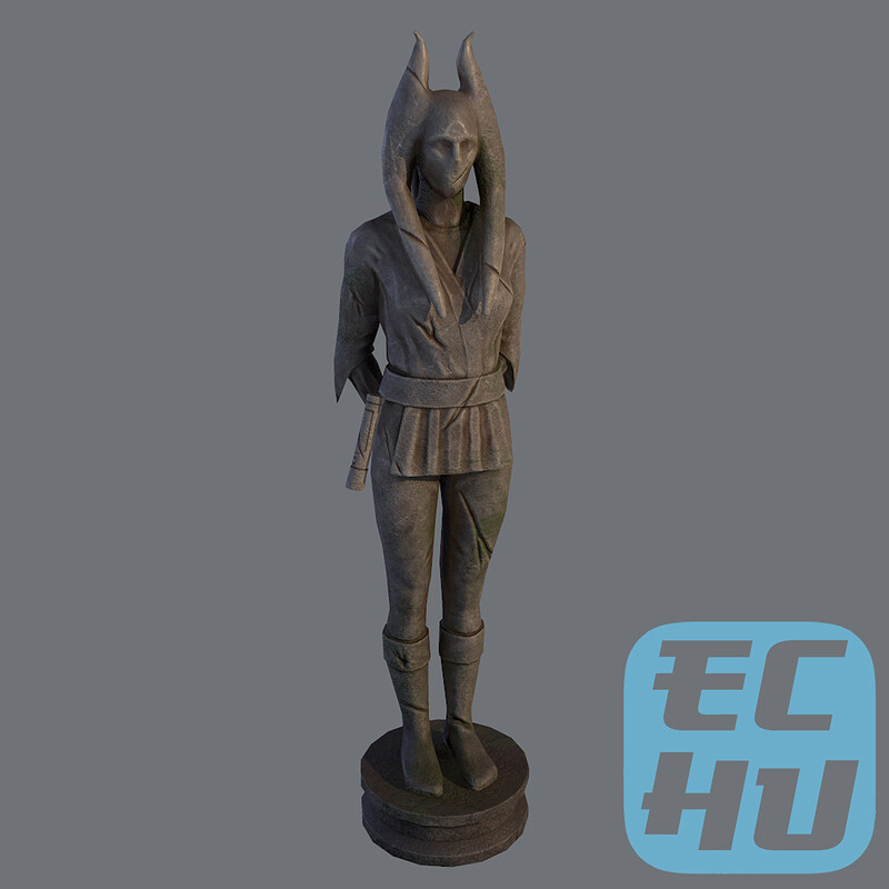 Old Jedi Statue