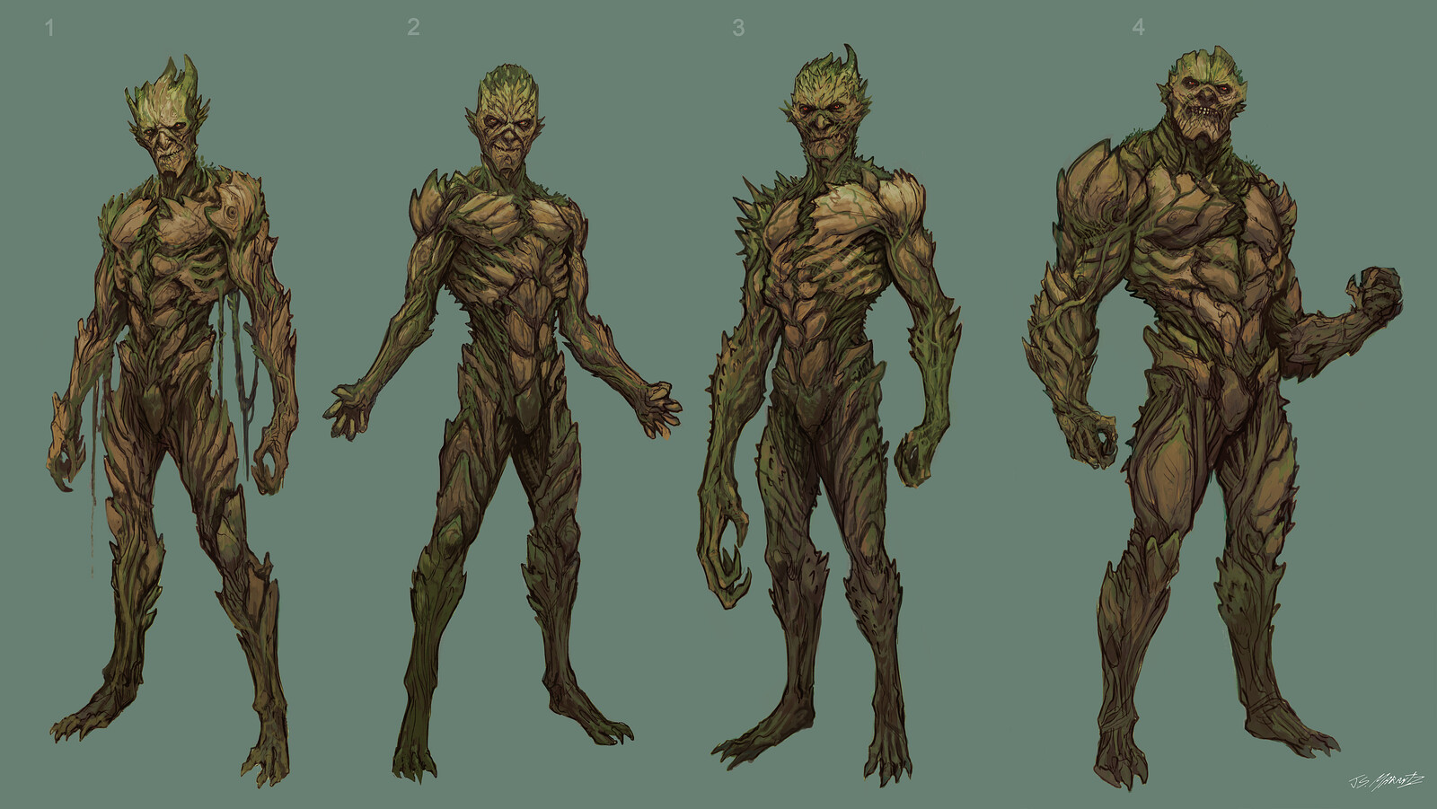 FLORONIC MAN Design Sketchs for Swampthing