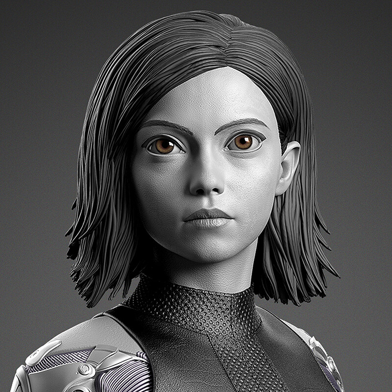 Alita: Battle Angel - Prime 1 Statue - Renders