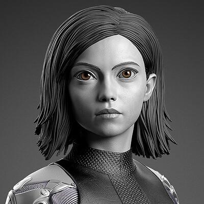 Alita: Battle Angel - Prime 1 Statue - Renders