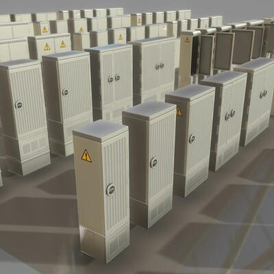 Dennis haupt dennis haupt modular cable distribution cabinet set modeled textured and animated by 3dhaupt in blender 2 82a 08 05 2020 19