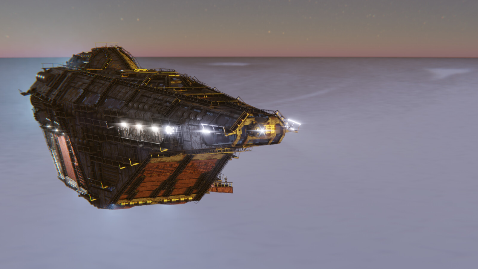 Hollow-belly Cargo Ship (Realtime)