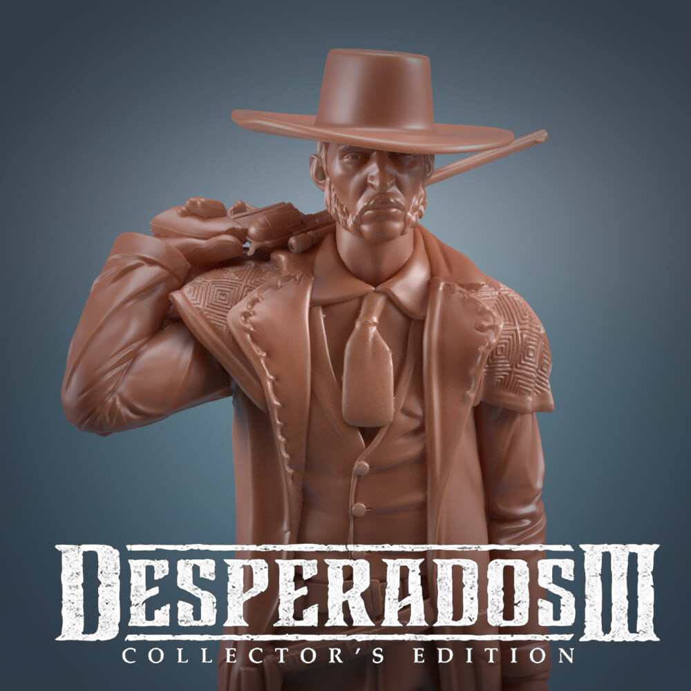 Artstation Desperados 3 Collectible Edition Doc Mccoy Alejandro Castiblanco