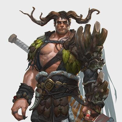 Rudy siswanto rudy siswanto nature warior male sword artstation thumb