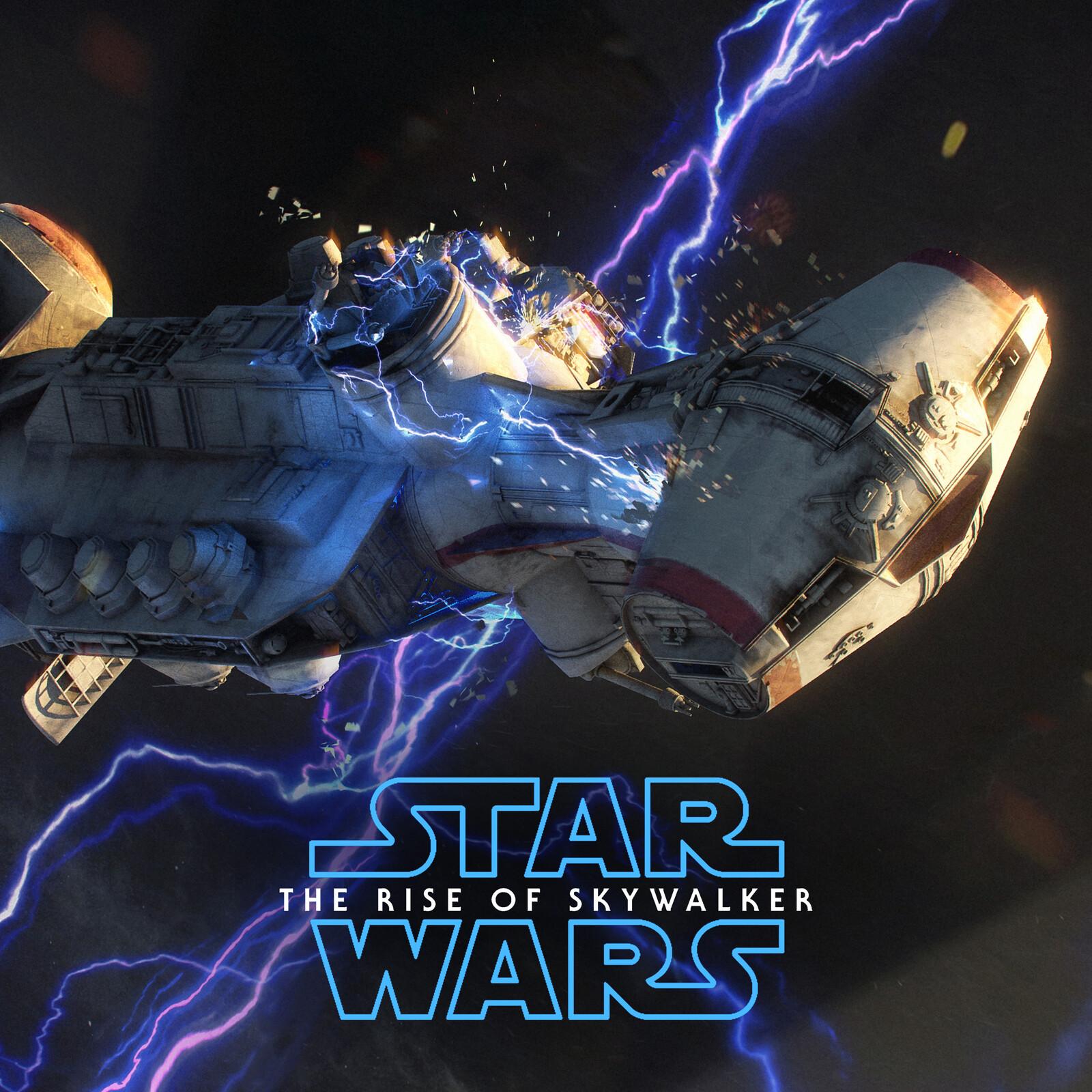 STAR WARS Episode IX / VFX Tantive IV Falling