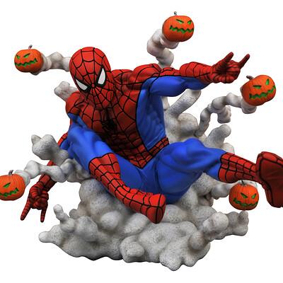 Alterton bizarre alterton bizarre marvel gallery pumpkin bomb spider man pvc statue