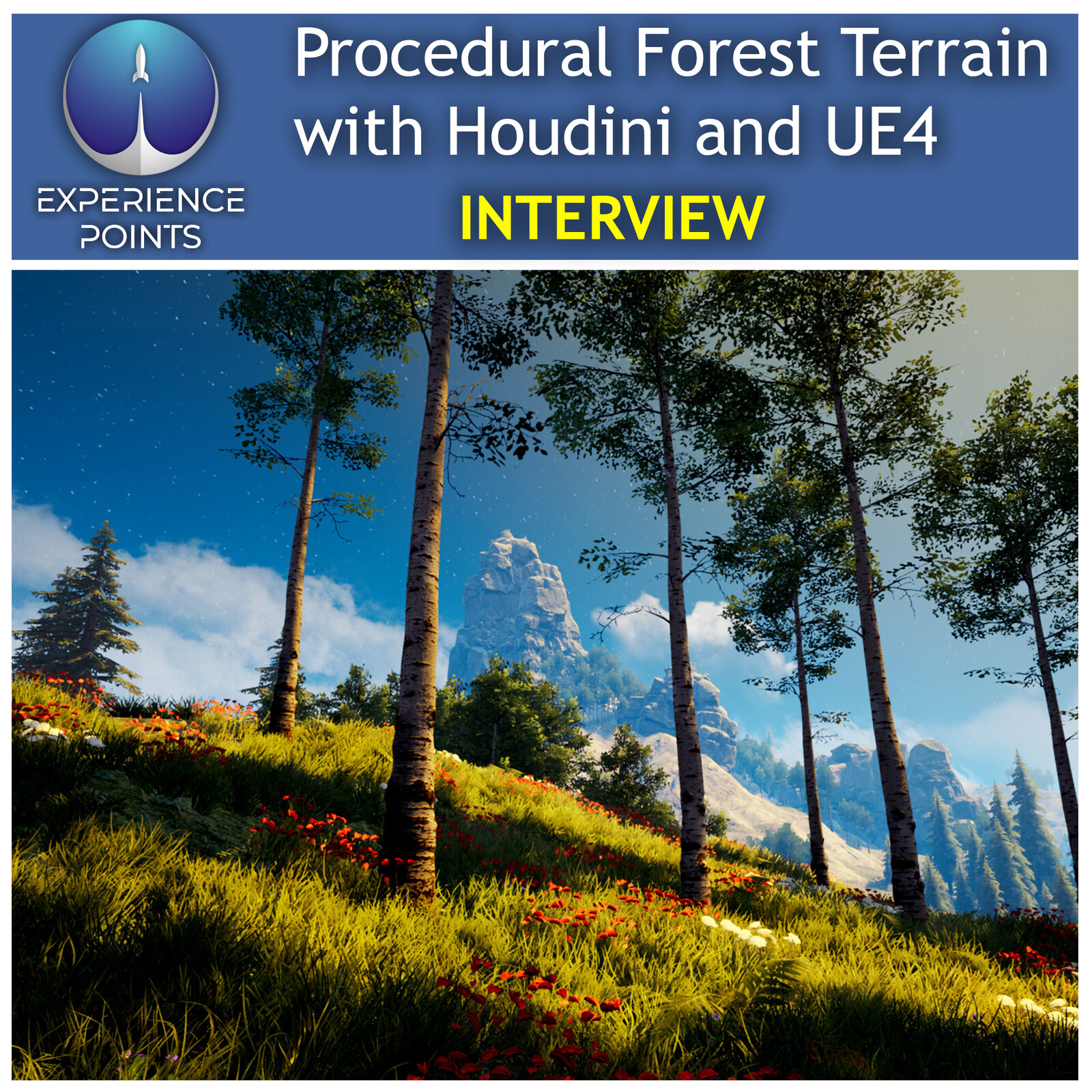 Experience Points Article - Procedural Forest Terrain Production with Houdini and UE4