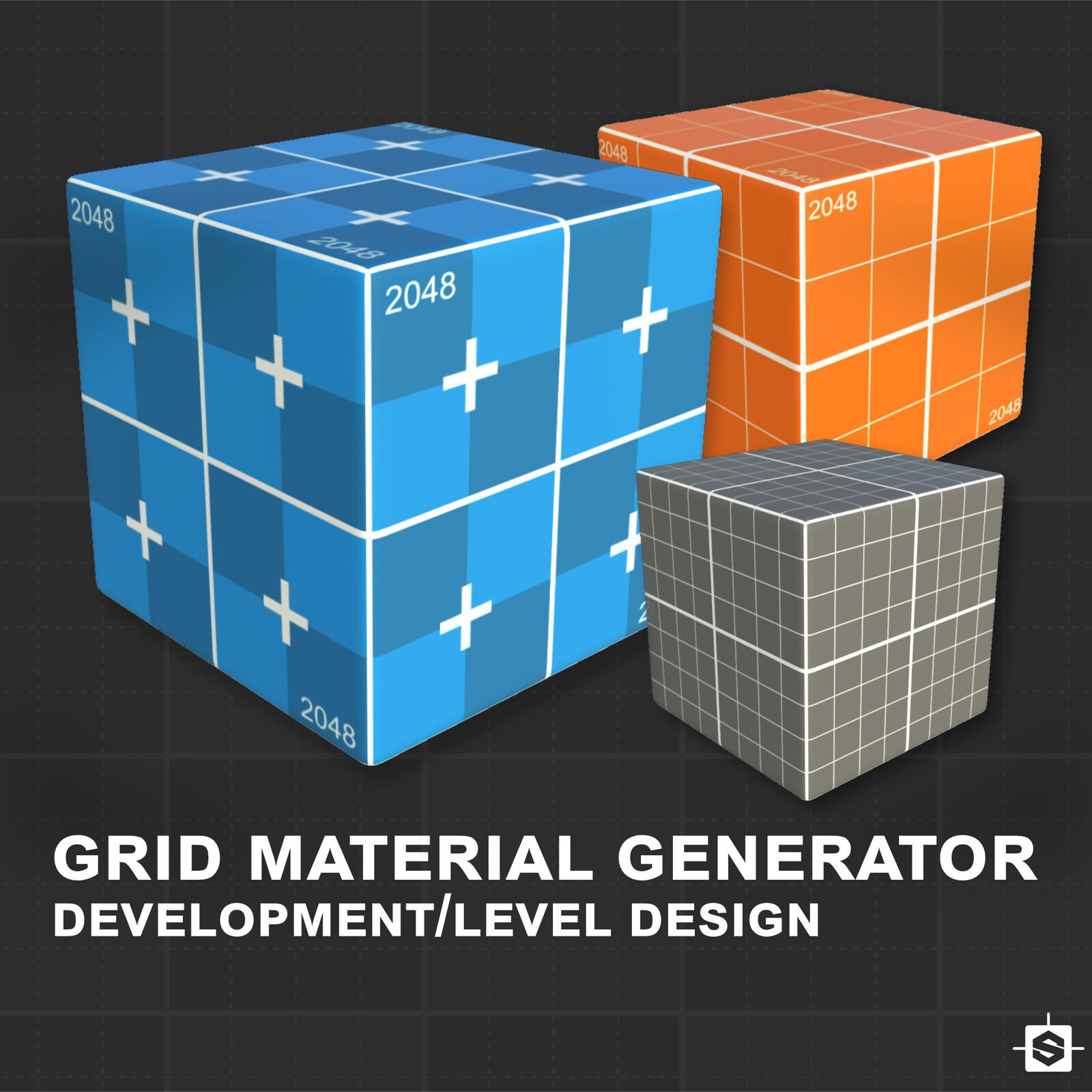 Procedural Grid material for development/level design