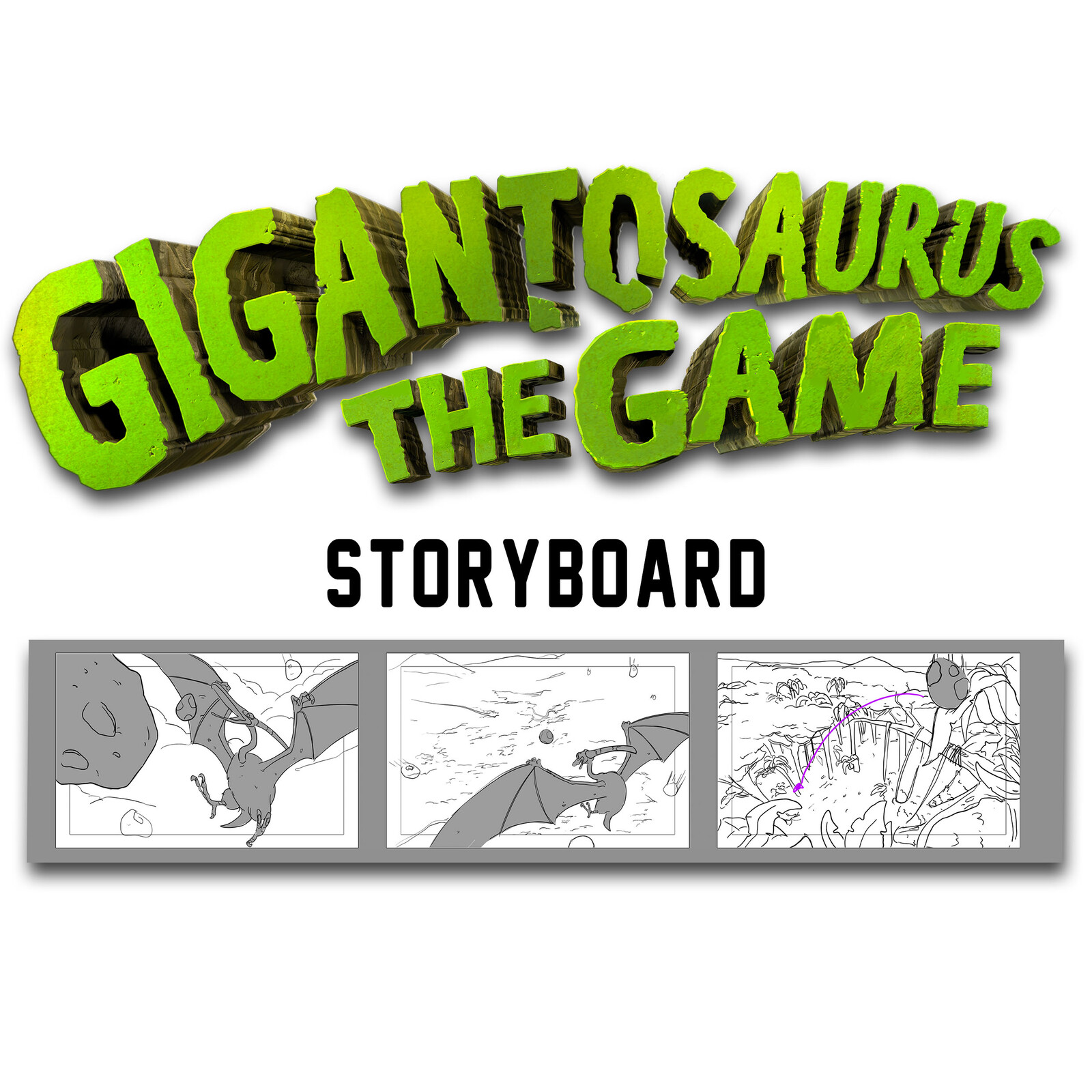 Gigantosaurus the game: Storyboard