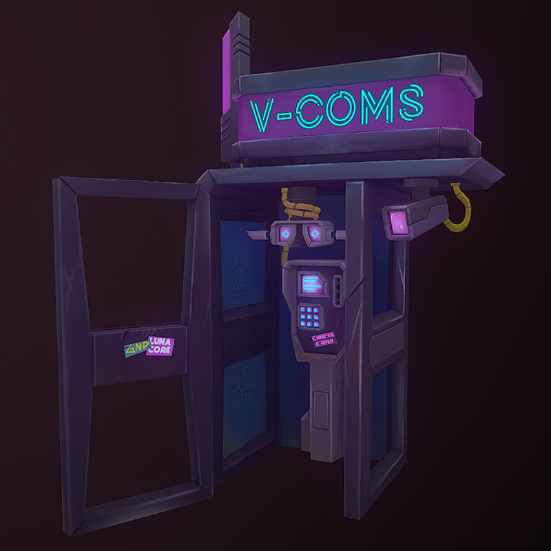 VR Cyberpunk Phonebooth