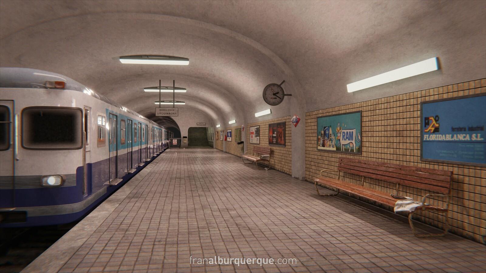 70s Barcelona Metro Station