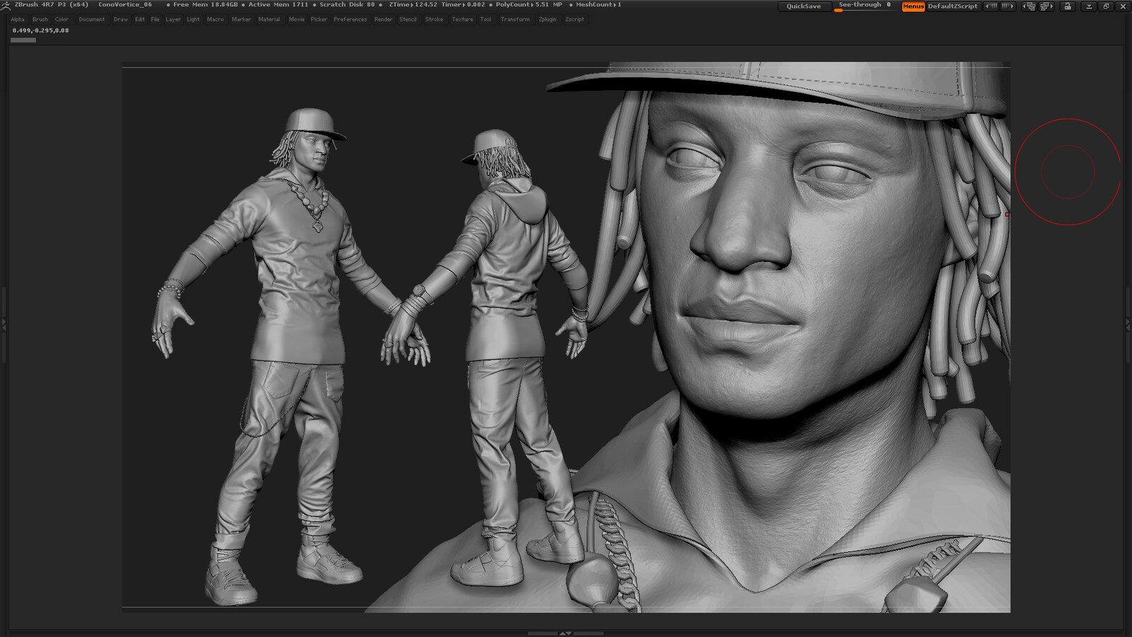 Les Twins/Larry Likeness Sculpt  -WIP