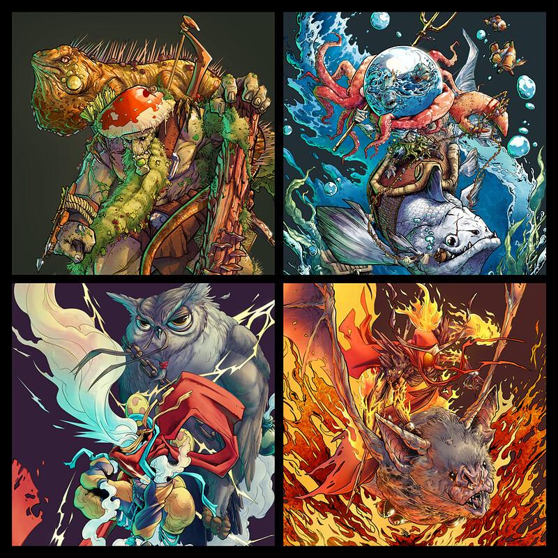 4 Elemental Hunters