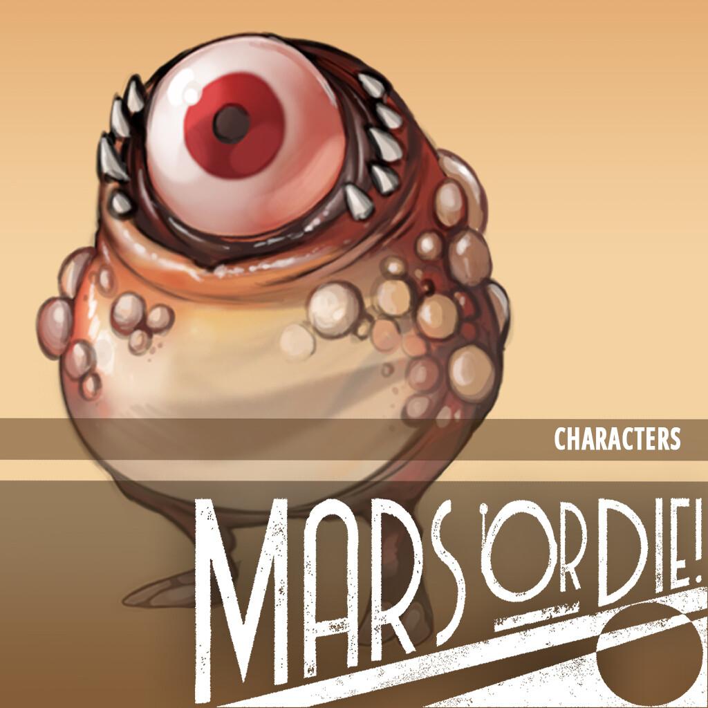 Mars or Die - Characters